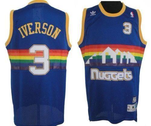 2eb5d0c4 AI Nuggets | jerseys | Allen iverson, Denver nuggets, Cheap nba jerseys