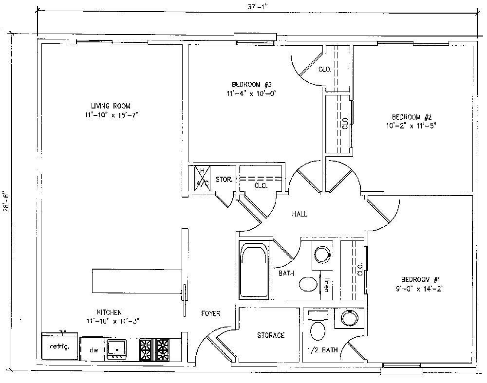 900 square foot house plans bedroom apartment 1000 square feet - Square House Plans