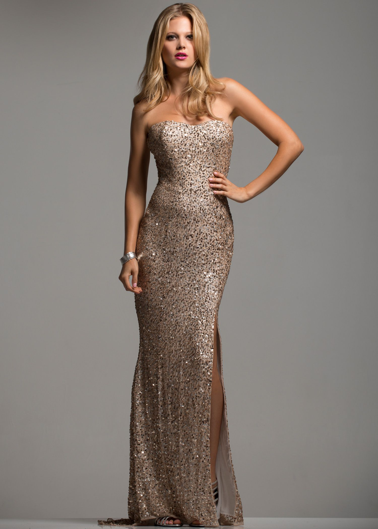 Champagne colored prom dresses fancy dresses pinterest