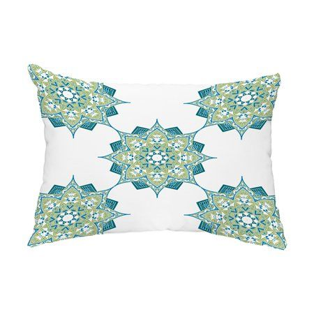 Rhapsody 14x20 Inch Green Decorative Abstract Outdoor Throw Pillow