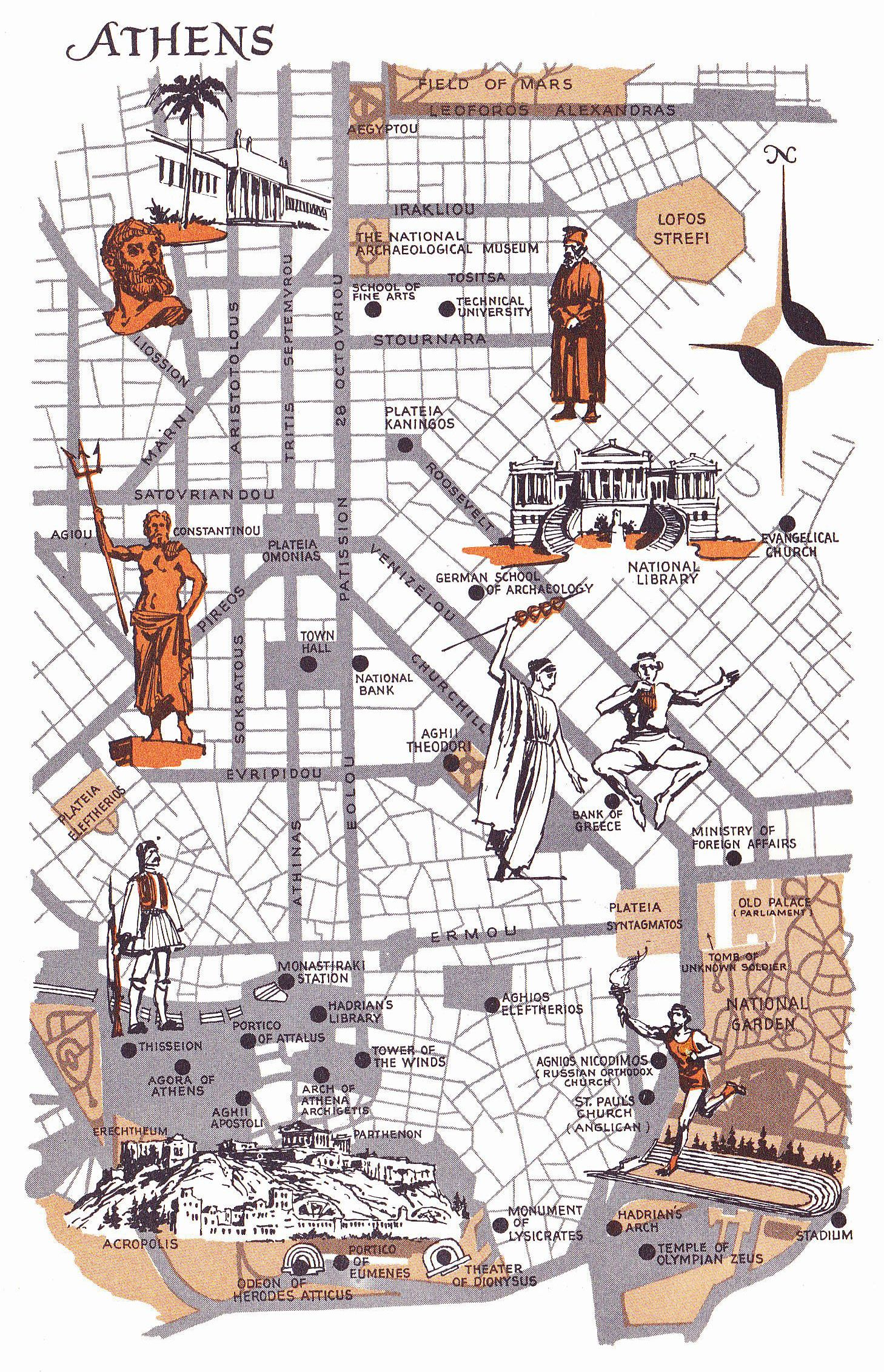 Old Map Of Athens Greece In 2020 Athens Map Italy Map Athens