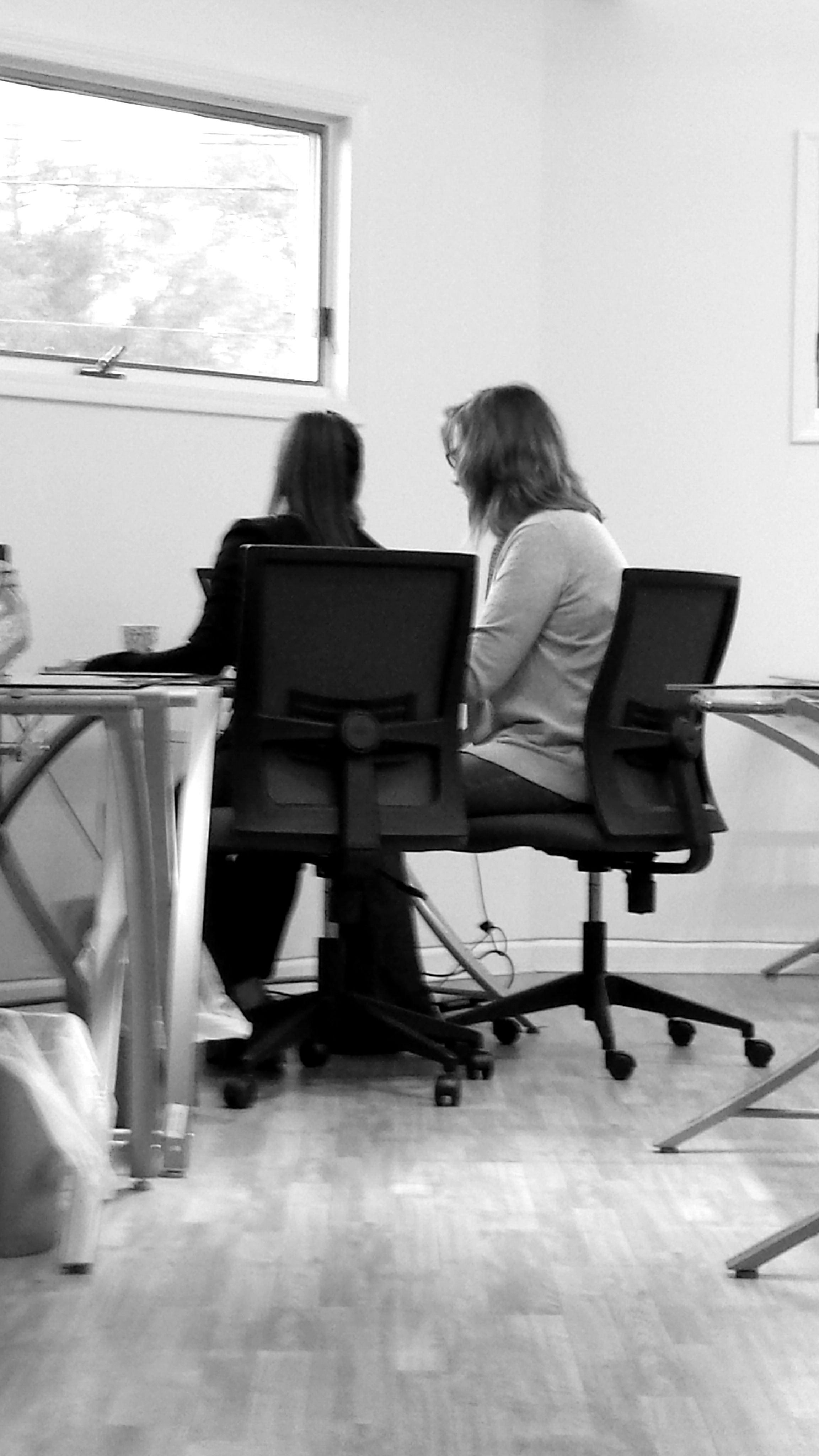 Irena doing a training session with one of our agents