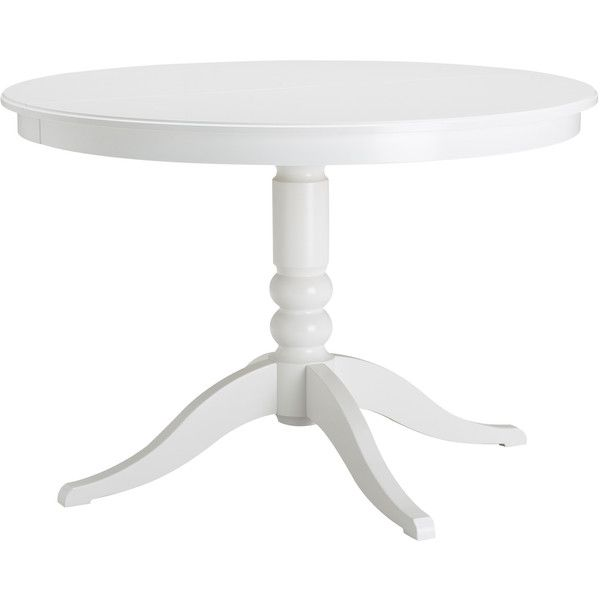 Ikea Liatorp 279 Found On Polyvore Ikea Extendable Table Table Expandable Round Dining Table
