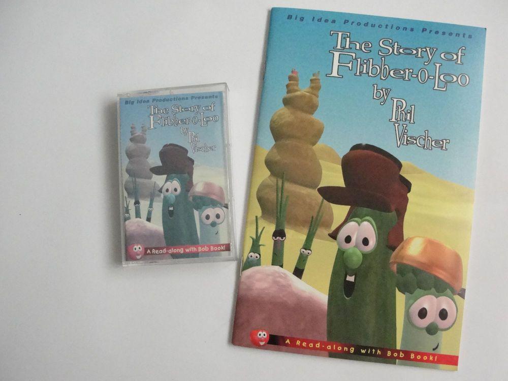2 pc set veggie tales read along with bob book audio