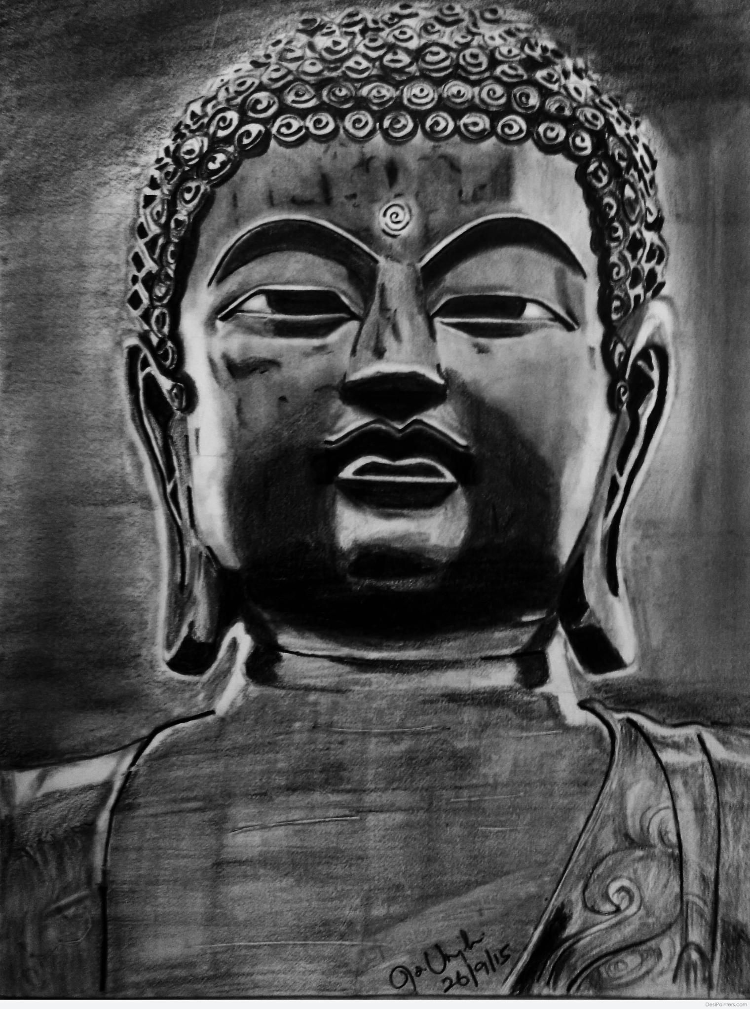Lord buddha pencil sketches a mythology blog