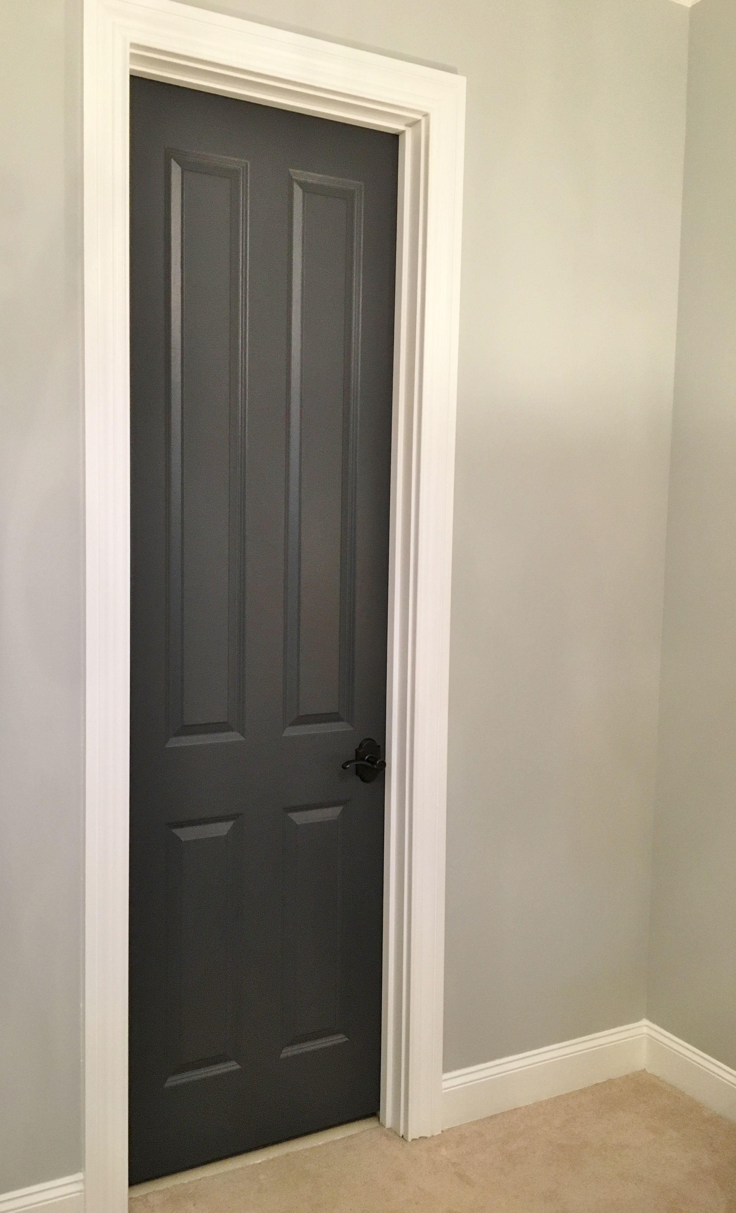 Wall Color Bm Stonington Gray Door Color Bm Wrought Iron Interior Door Colors Grey Interior Doors Painted Interior Doors