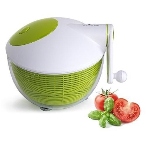 5 Qt. Manual Salad Spinner With Ergonomic Side Hand Crank Small ...