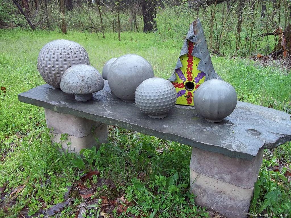 DIY Cement Garden Balls