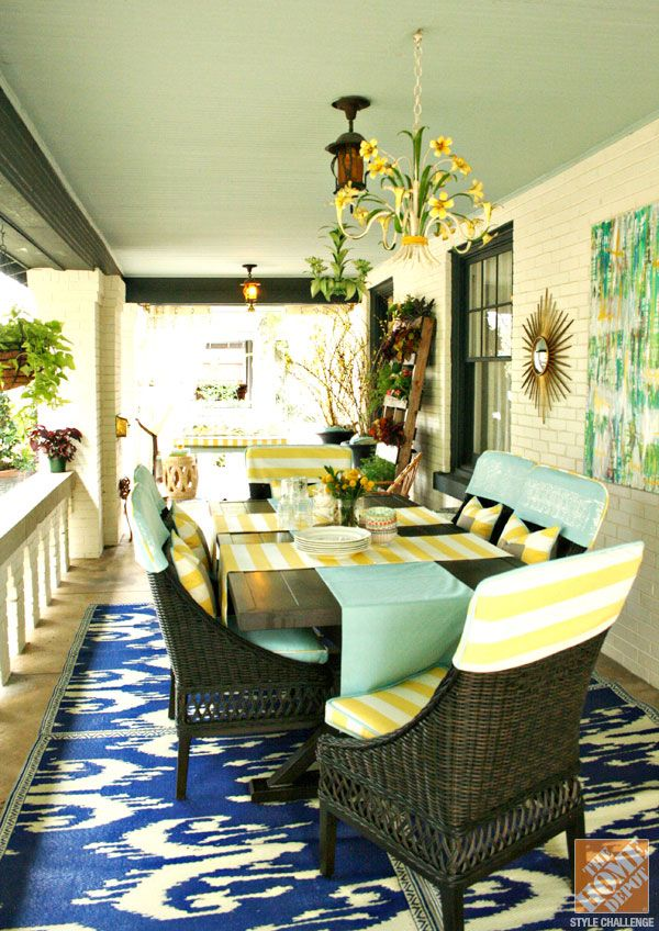 Patio Decor Ideas Dining Al Fresco Inspiration The Home Depot