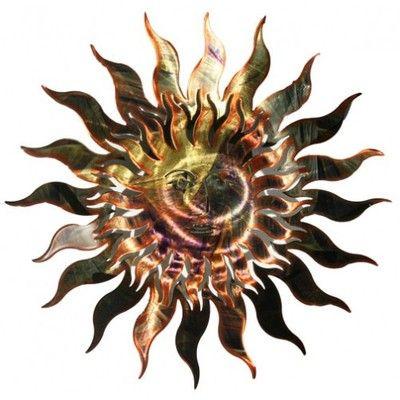 7 Choices Celestial Sun Moon Metal 3d Wall Art Decor Picture