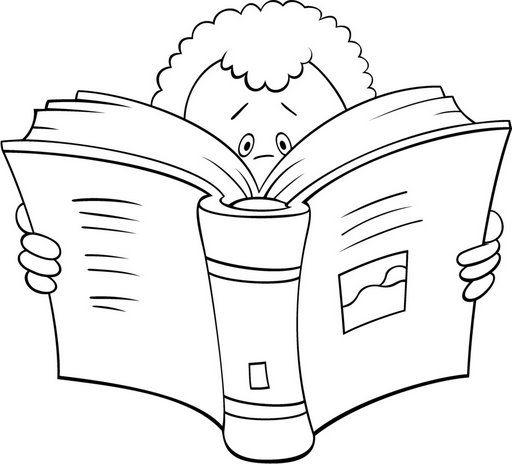 Dibujos de niños leyendo libros para colorear - Imagui | Hojas para ...
