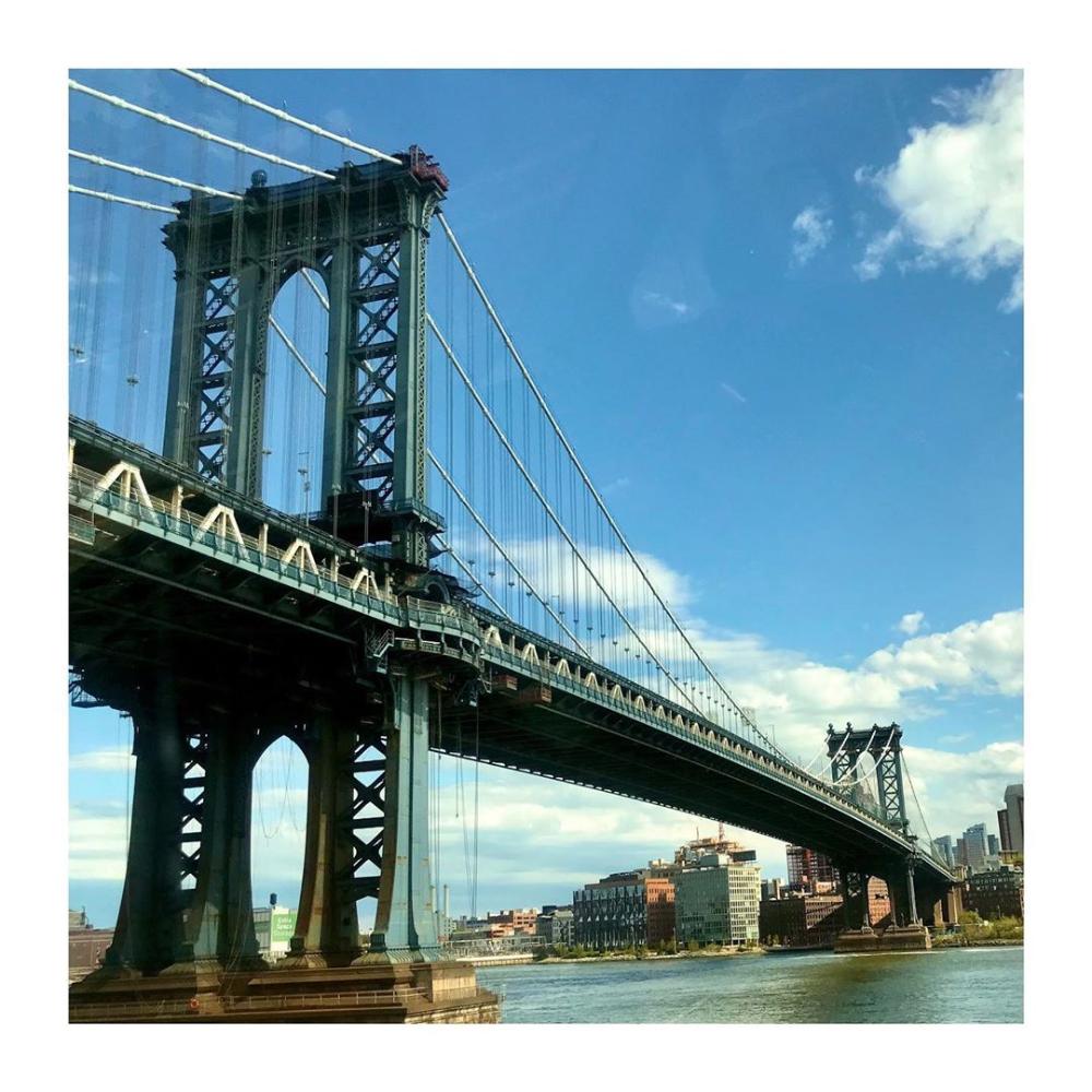 Gavin Harwin Op Instagram Blue Skies Over The Manhattan Bridge Today Missing Going Over The Manhattan Bri Manhattan Bridge George Washington Bridge Bridge