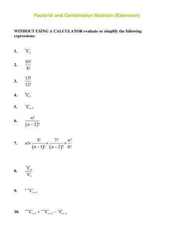factorial notation extensiondoc  maths higher  math sat math  factorial notation extensiondoc pascals triangle sat math maths  teaching resources