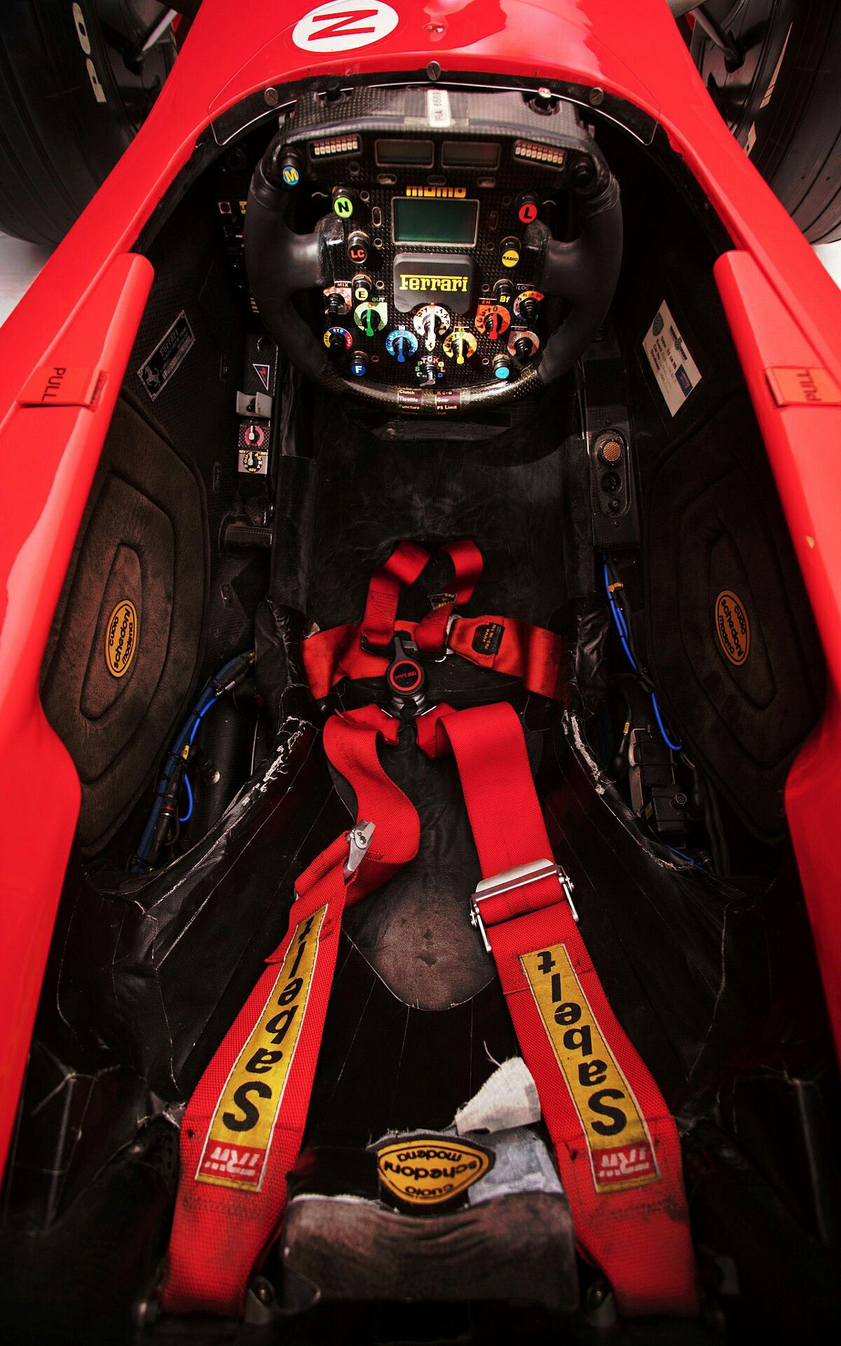 Ferrari F2001 Formula 1 Cockpit Is Were Michael Schumacher Piloted To The 2001 Formula 1 World Championship Image E In 2020 Ferrari Michael Schumacher Formula 1