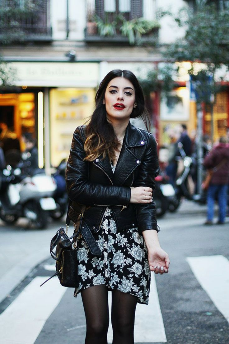 Year Round Fashion Trend How To Wear Cute Floral Dresses In Cold Weather Fashion Style Street Style [ 1104 x 736 Pixel ]