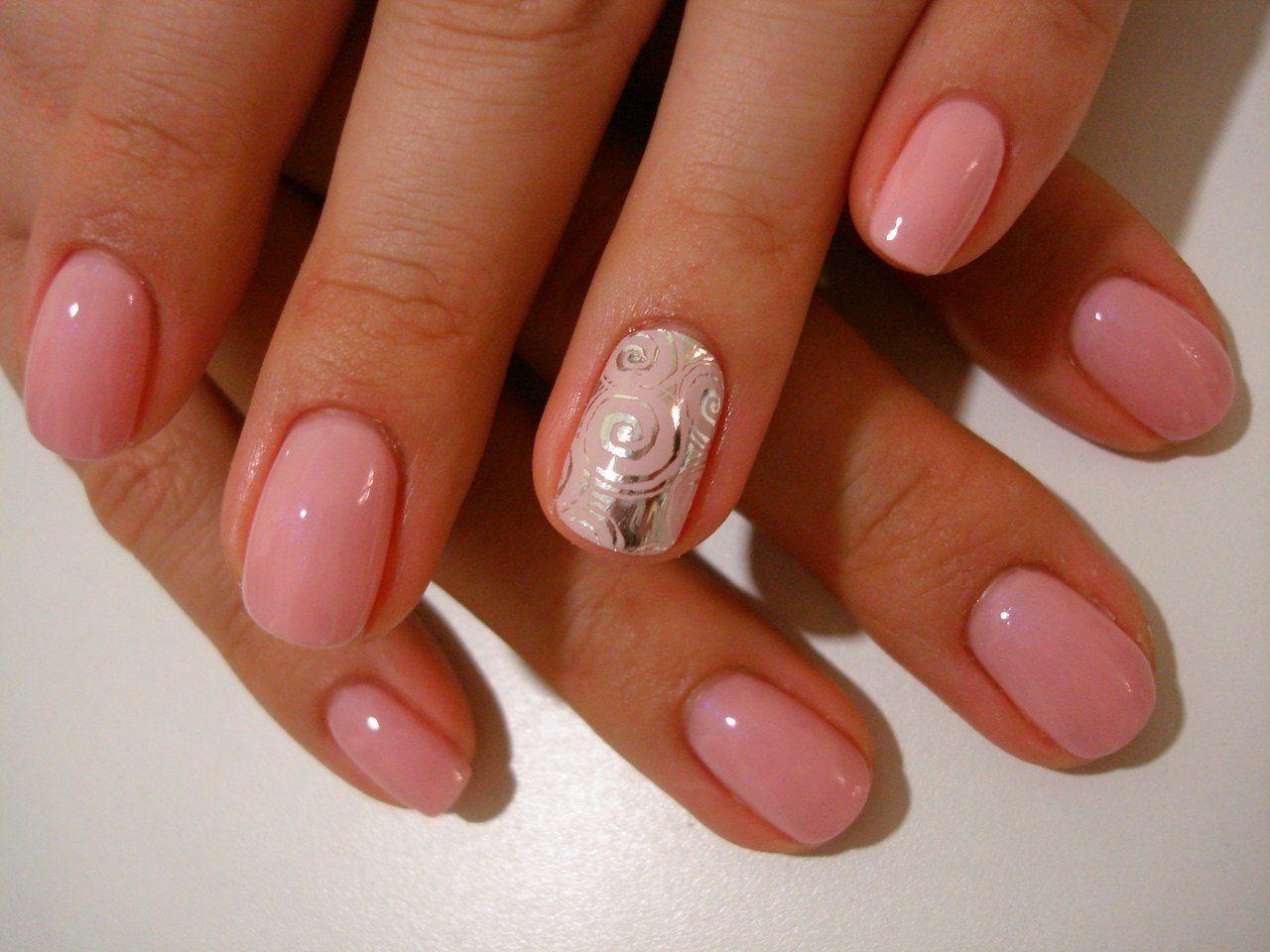 Маникюр №1442 | Гвоздь, Короткие ногти, Романтичные ногти