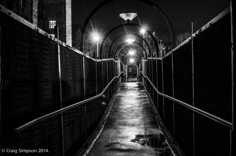 Walker Hey Footbridge, Burnley, Lancashire, England. 13th November 2014.