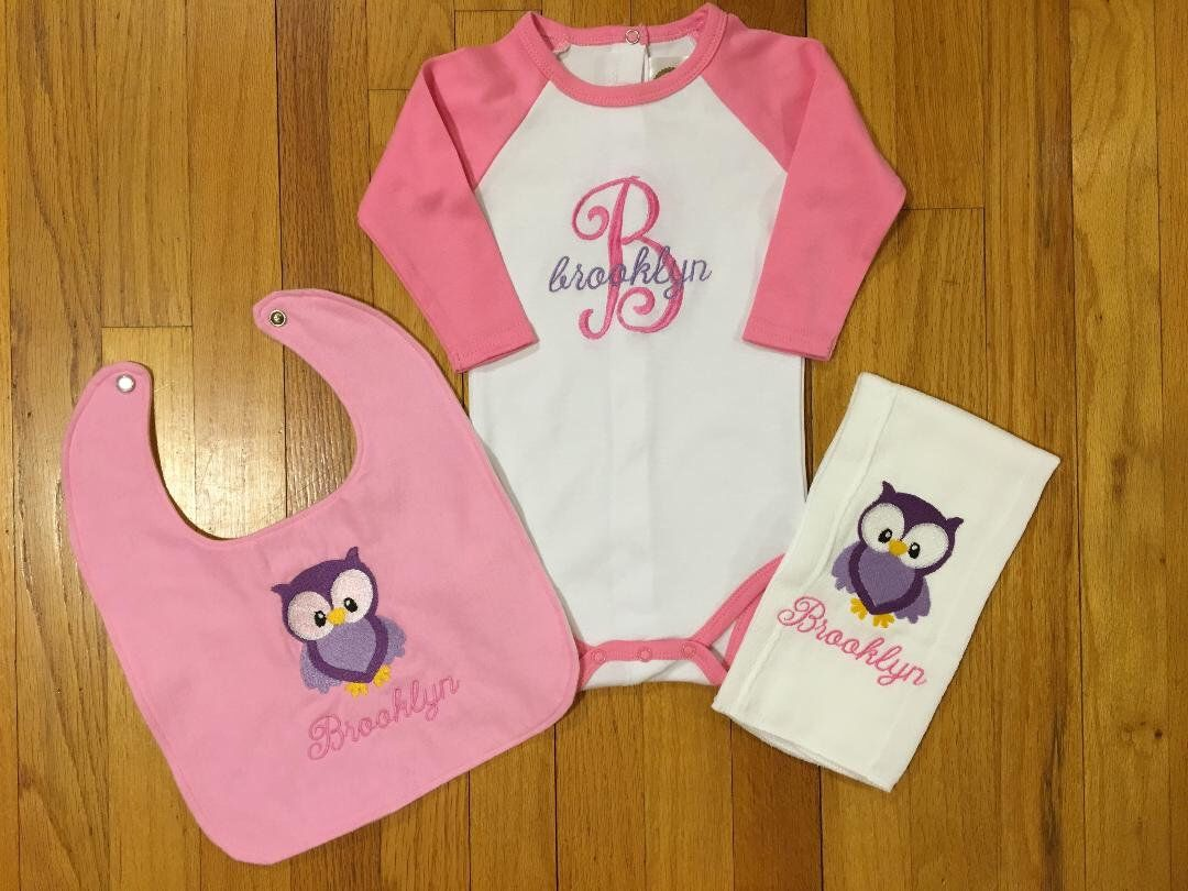 Personalized Onesie/Personalized Burp Cloth/Personalized
