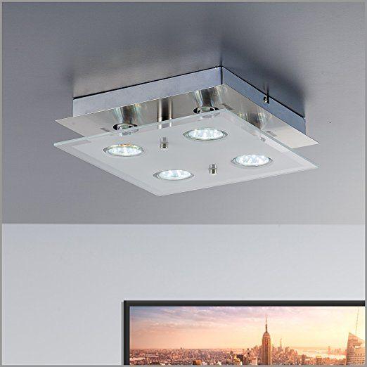 Led Deckenleuchte Inkl 4 X 3w Leuchtmittel 230v Gu10 Ip20 Led
