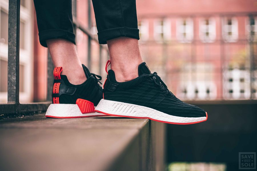 Adidas NMD R2 PK Black Red | Sneaker | Save Our Sole