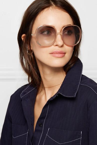 65137594e9e Chloé - Myrte Square-frame Acetate Sunglasses - Pink