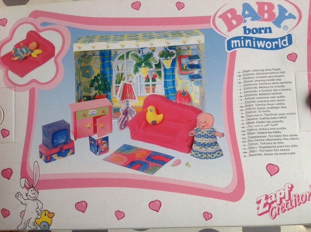Mini Wohnzimmer ~ Baby born miniworld mini wohnzimmer set 766729 mit möblierung