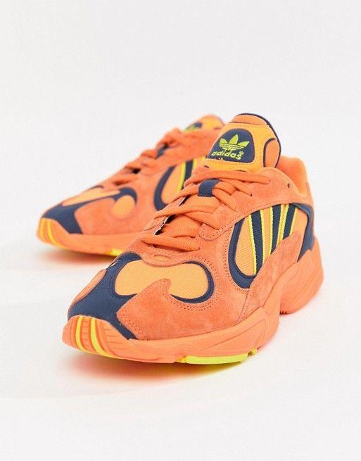 sleek good texture unique design adidas Originals Yung-1 Sneakers In Orange B37613 | Adidas ...