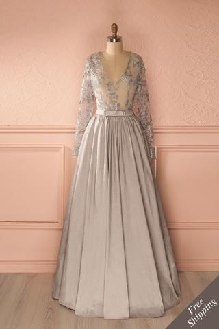 Fatiana Argent - Silver evening gown