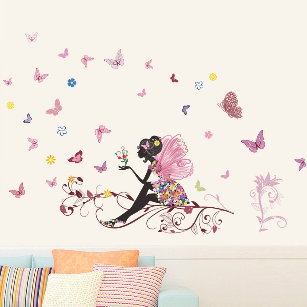 Pink Flower Home Decor Girl Children Room Nursery Wall Sticker Art Decal Classy