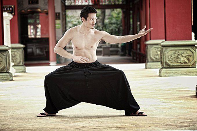 Katuo Men's Black Harem Pants Elastic Waist Casual Pants Plus Size Linen at Amazon Men's Clothing store: