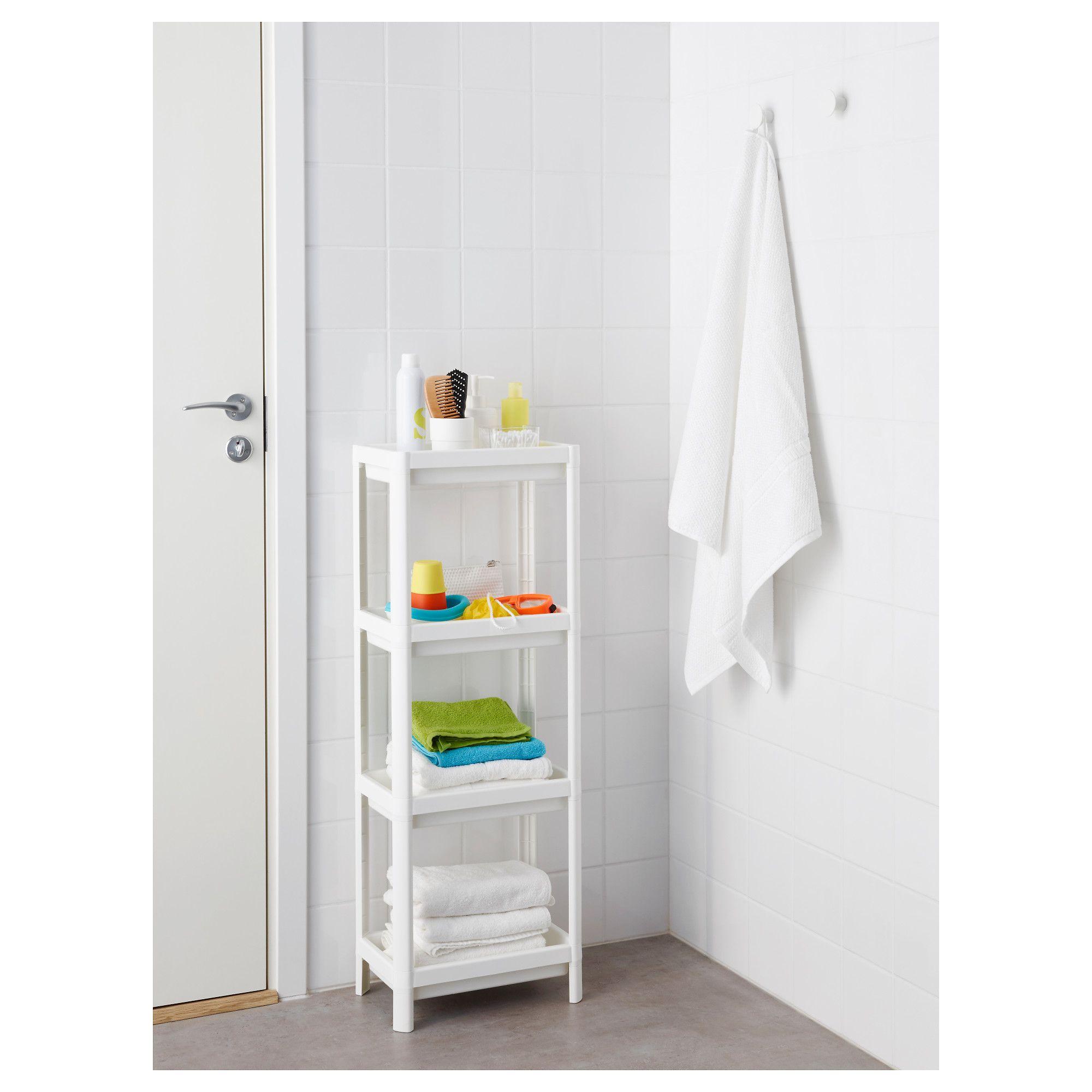 vesken shelf unit white 36x100 cm shelves bathroom renos and