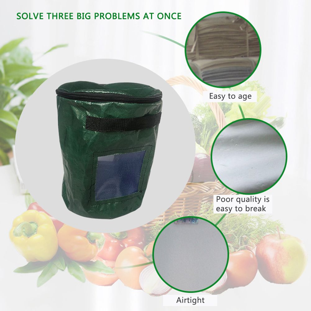 Pe Manure Bag Horticultural Compost Bag Nutrient Soil Culture Bag Garden Compost Bin For Tea Fruit Vegetable Growth In 2020 Compost Bags Garden Compost Grow Bags