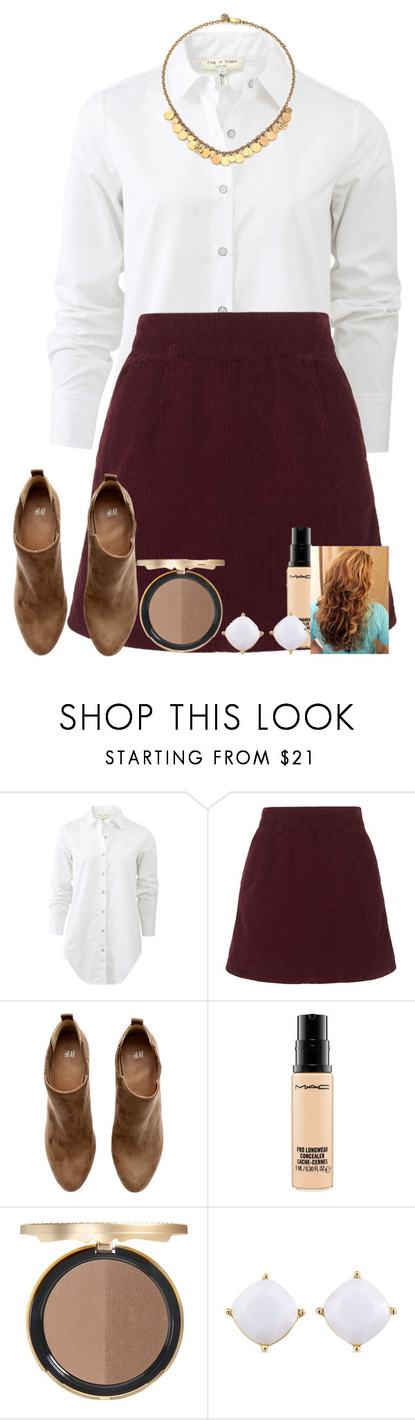 """""""Gangsters don't cry """" by fashionpassion2002 ❤ liked on Polyvore featuring rag & bone, Topshop, H&M, MAC Cosmetics, Too Faced Cosmetics, Carolee, Tory Burch, women's clothing, women's fashion and women"""