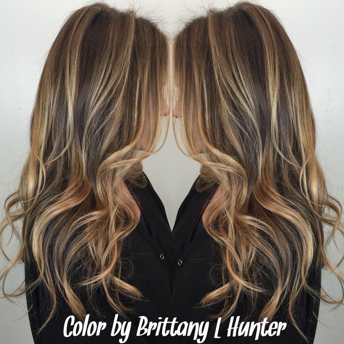 Highlights Balyage Sun Kissed Blonde La Hair Dark Blonde