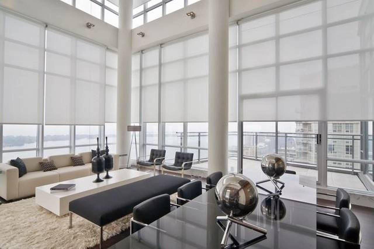 blind modern window treatment window treatments Pinterest
