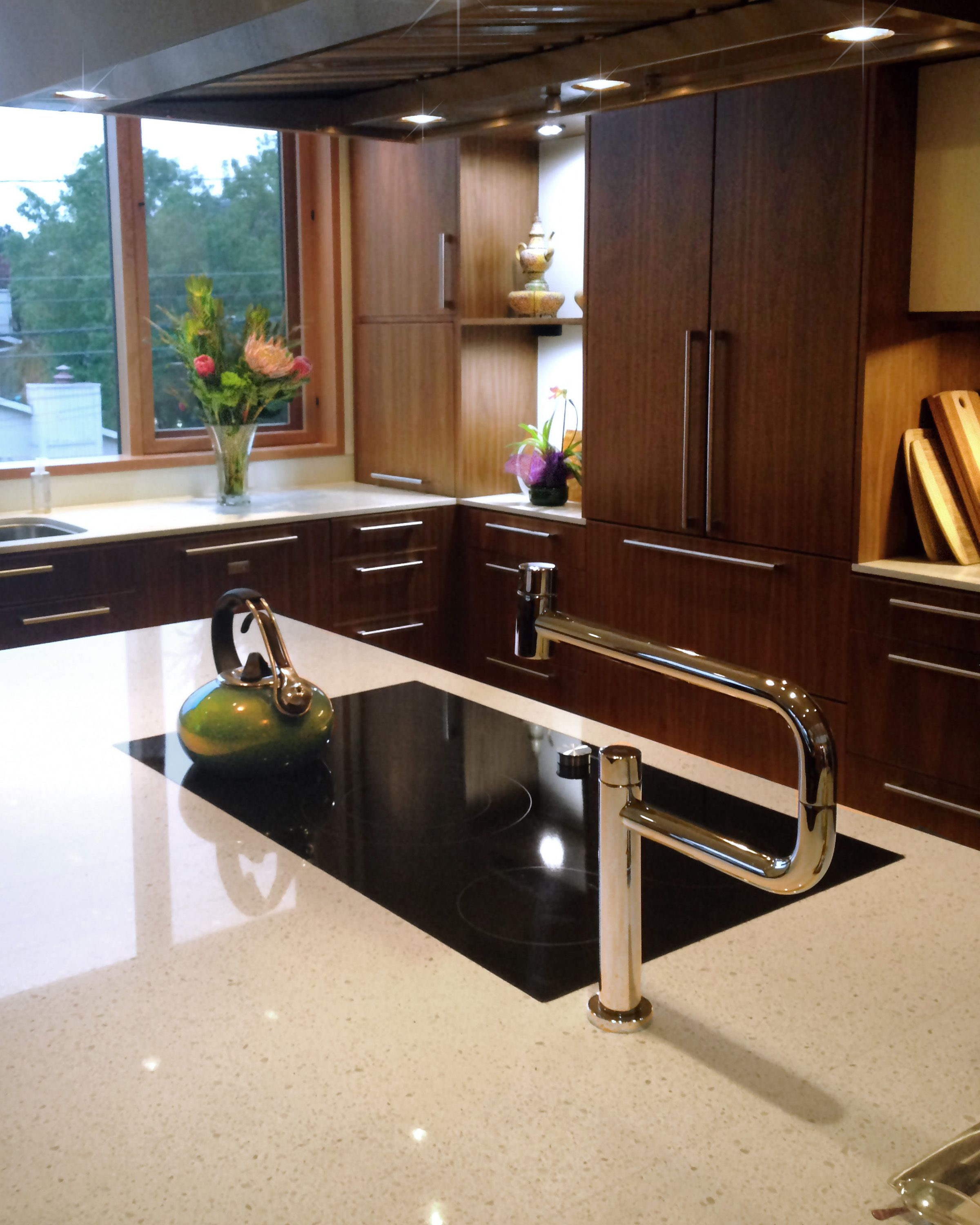 PentalQuartz Pearl White Polished Quartz Countertops