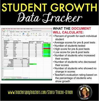 Student Growth Data Tracker - Microsoft Excel Common Core (CCSS - excel assessment