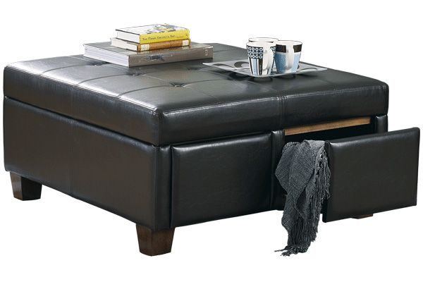 Durahide Ottoman With Drawers Signature Design By Ashley Furniture