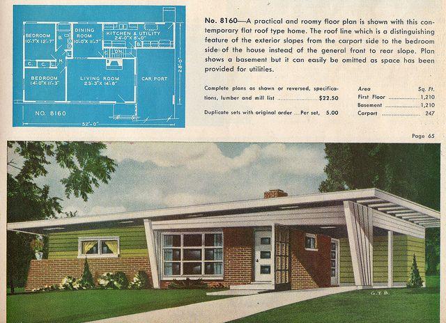 Garlinghouse Plan 8160 Mid Century Modern House Plans Mid Century Modern House Mid Century House