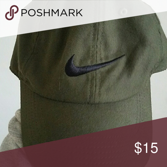 Olive green Nike hat Olive green hat great for working out or just  relaxing. Great when paired with a nice pair of vans Nike Accessories Hats 59c7de998ac