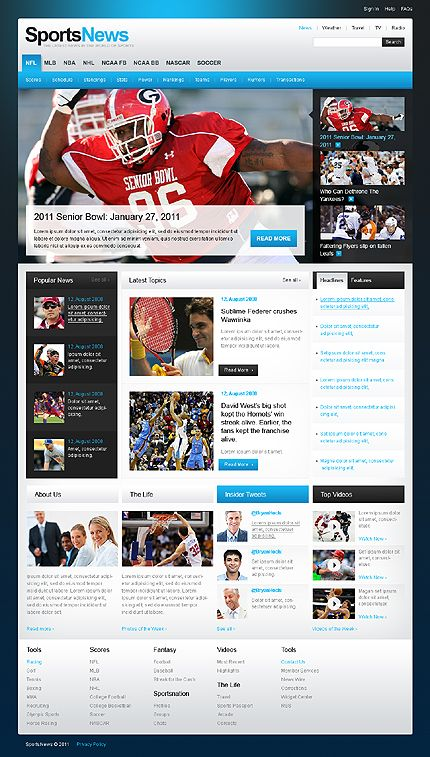Sport Website Template    Sport Website Templates