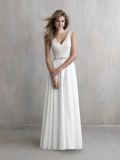 Madison James wedding dress with lace bodice
