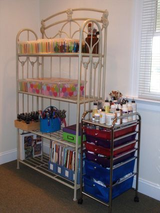 Organizing Step 1 Baker S Rack From Hobby Lobby Boxes From