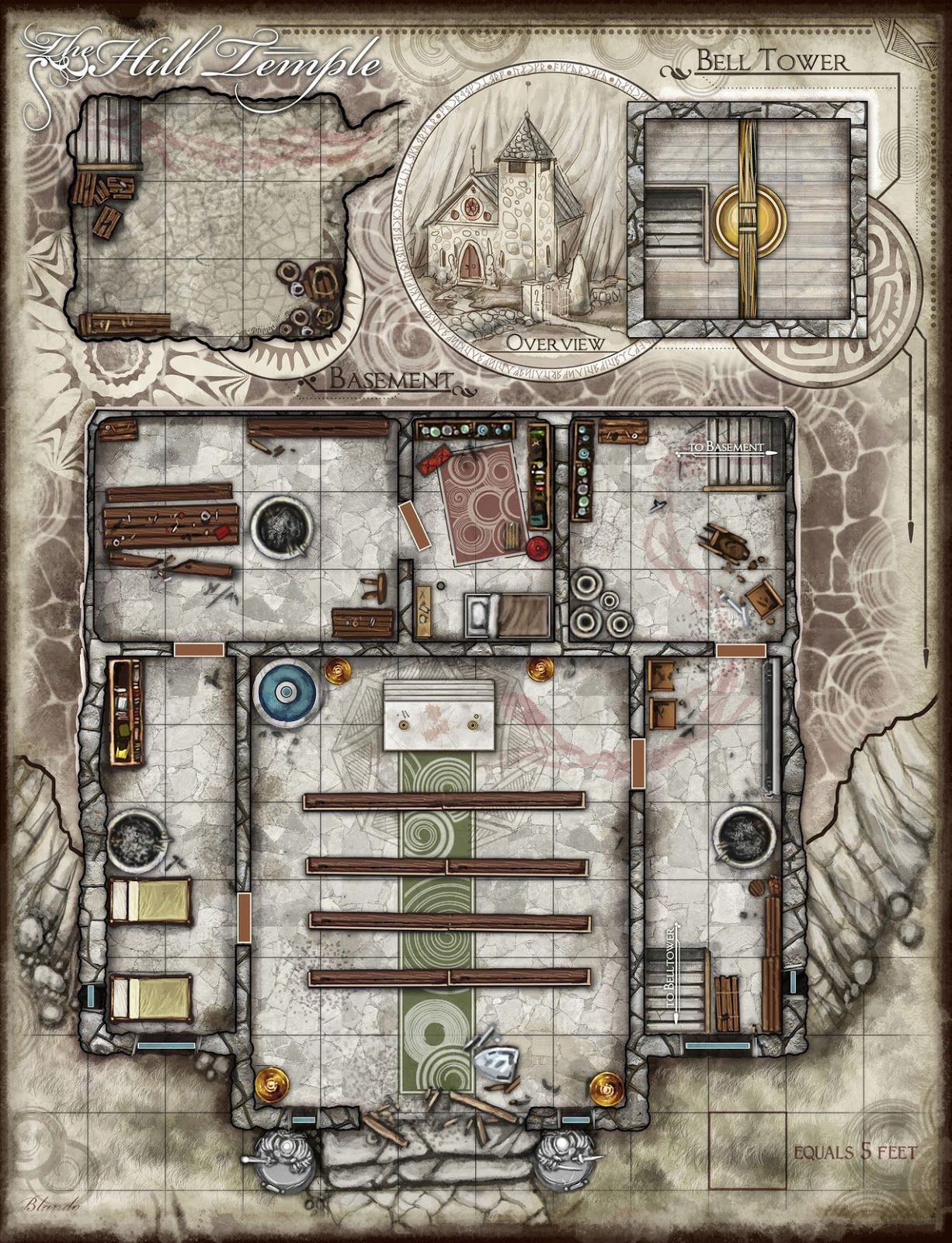 Floorplan For A Desecrated Or Abandoned Temple Dnd Maps Dungeon