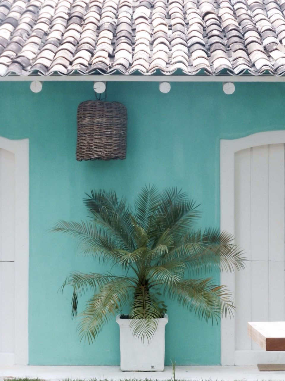Casas color verde turquesa exterior