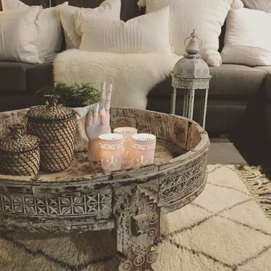How To Style A Coffee Table In Your Living Room Decor Boho Chic
