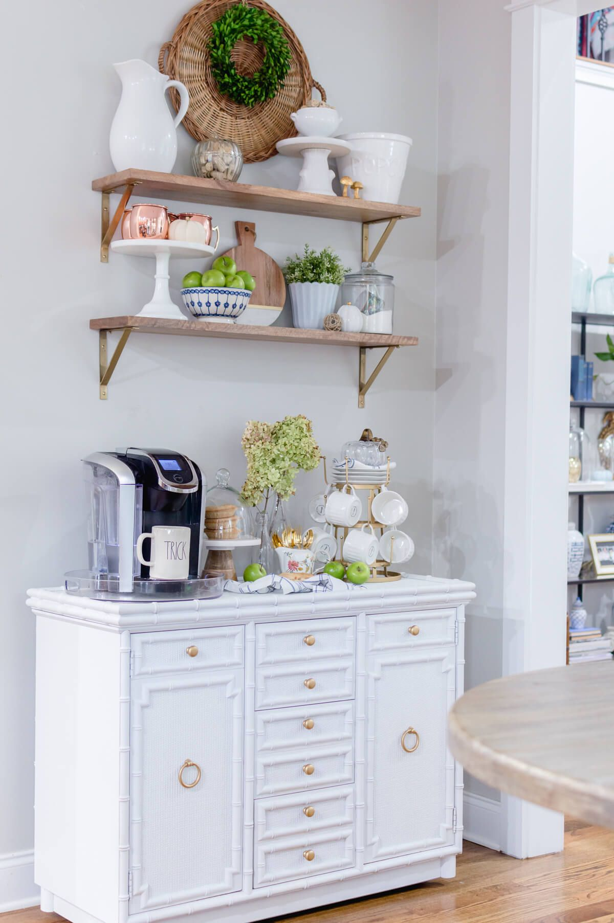 DIY Coffee Bar Updated For Fall {video} Coffee bar home