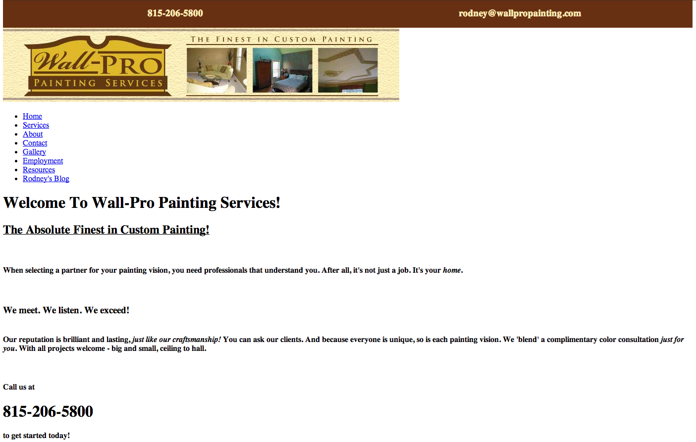 Web Design for Wall-Pro Painting! - Arise Advertising Arts