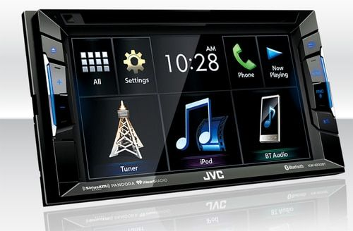 JVC Refurbished KW-V230BT Bluetooth DVD/CD/USB Receiver with 6.2 Inch Touch Panel #touchpanel