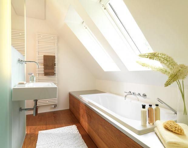Räume Mit Dachschrägen - Die Besten Wohntipps: Im Bad: Wanne Unter